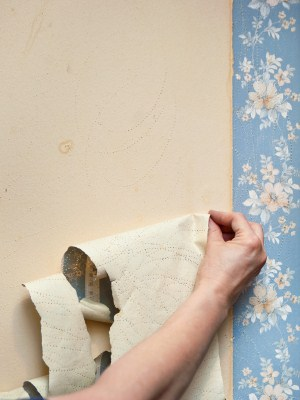 Wallpaper removal in Pittsfield, NH by MF Paint Management, LLC.